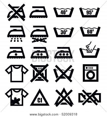 washing signs and clothes