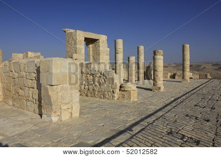 Balcon gate at Avdat, the ancient city of Nabateans People