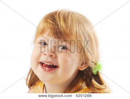 Preschool Girl Laughing