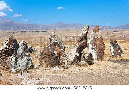 Megalithic Standing Stone Zorats Karer In Armenia