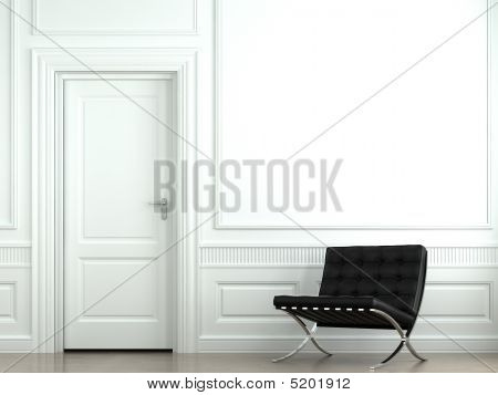 Inredning klassisk vägg med stol