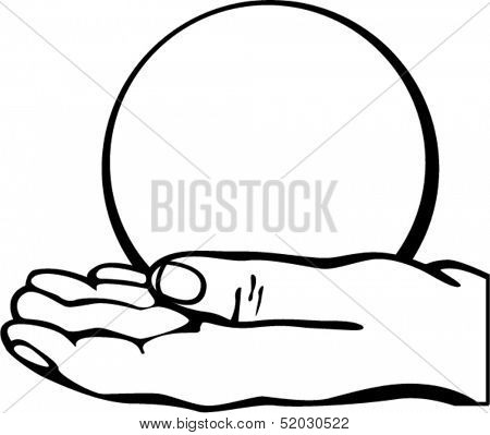 hand holding a fortune ball
