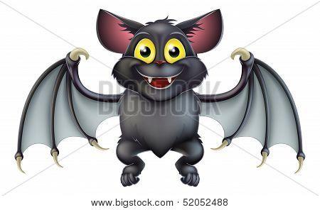 Cute Halloween Bat Cartoon