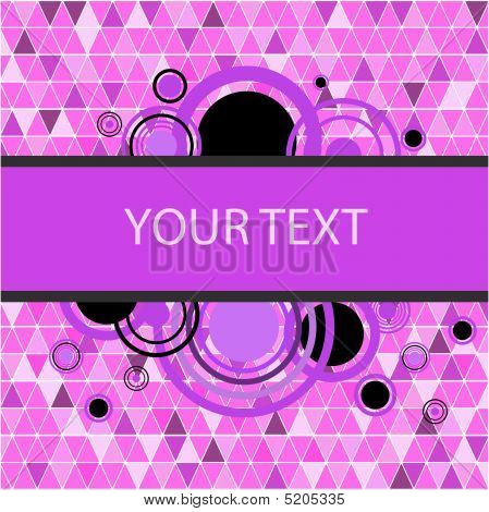 Stylish Pink Banner. Vector Illustration
