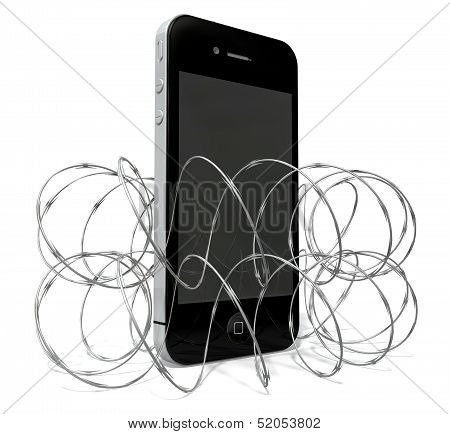 Barbed Wire Protected Smartphone
