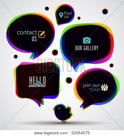 Speech Bubbles Web Template