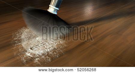 Dusting For Fingerprints On Wood