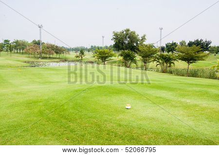 Golf course on sunshine day