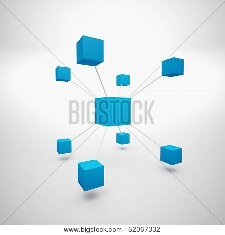 Abstrakt Blue Boxes