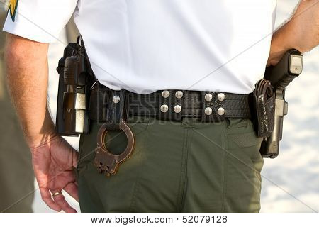 Policemans Equipment Belt