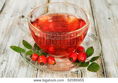 Rosehip Drink With Fresh Berries