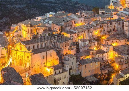 Ragusa Ibla in the evening