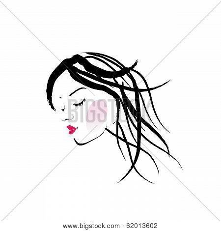 A lady with dreadlocks