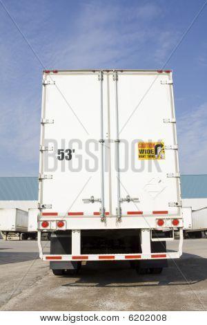 Back of transport truck