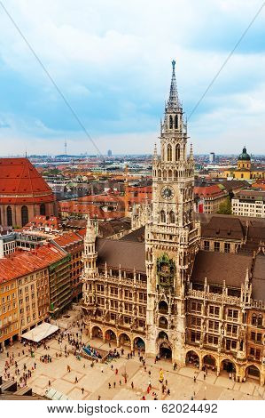 City centre of Munich, Marienplatz, New Town Hall
