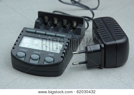 Battery charger with ac adapter