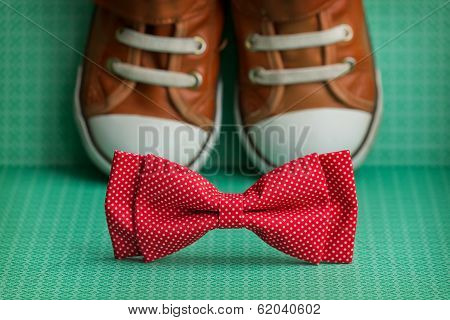 Bow Tie And  Sneakers