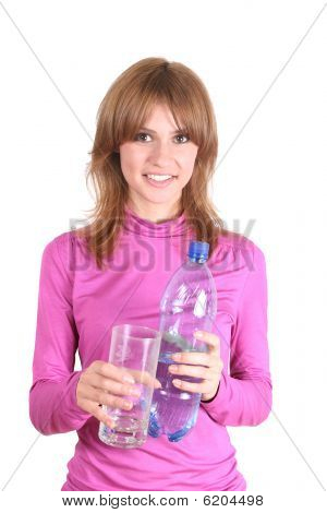 The Girl With A Bottle Of Water