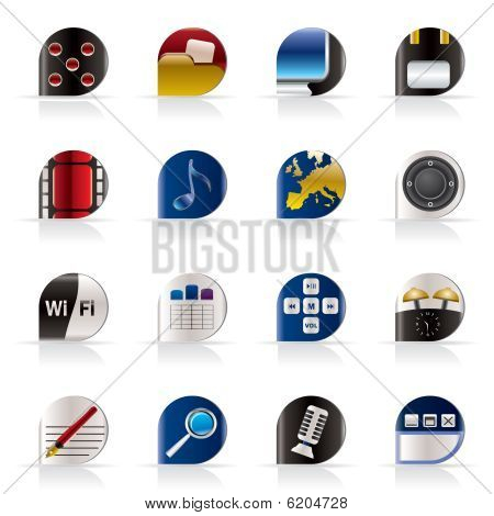 Phone  Performance, Internet and Office Icons