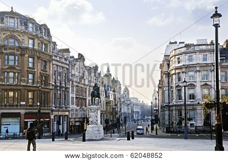 View of Charing Cross in London at early morning