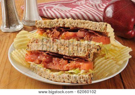 Blt Sandwich On Whole Wheat Bread