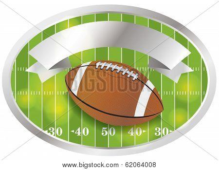 Vector American Football Emblem And Badge