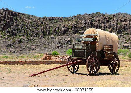 Wagon at Fort Davis