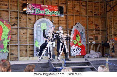 Actors at Halloween Festival