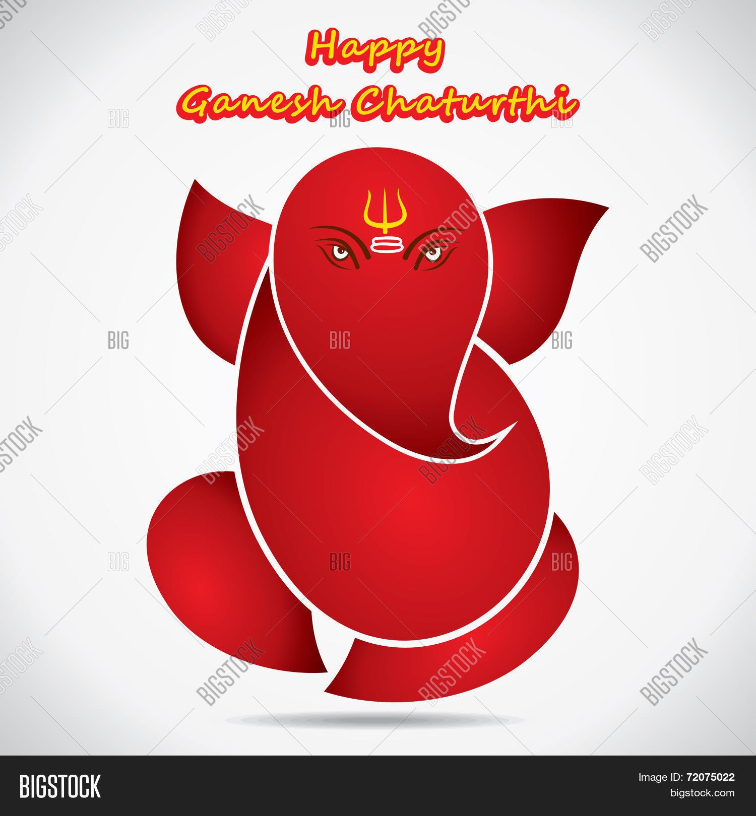 Happy Ganesh Vector Photo Free Trial Bigstock