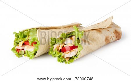Chicken fajita wrap sandwich