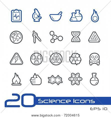 Science Icons // Line Series