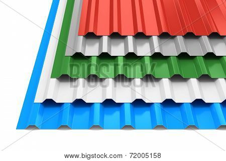 Group Of Steel Profile Sheets
