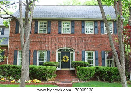Large house with beautiful landscaping
