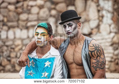 Two Male Cirque Performers