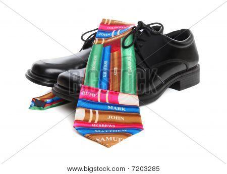 Business Man Bible Religion Theme