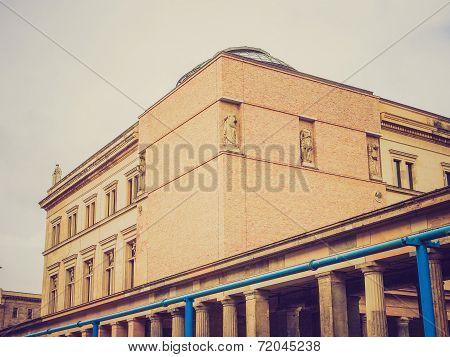 poster of Vintage looking Neues Museum in Museumsinsel in Berlin Germany