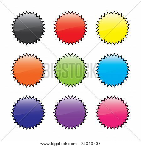 Illustration Of A Spikey Circle Collection Set