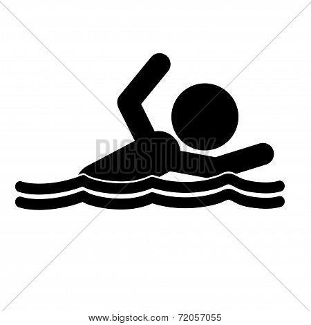 Silhouettes People Swim