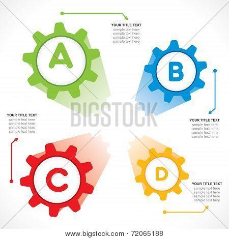 creative gear info-graphics design concept vector