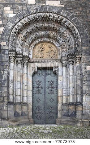 Doorway Of Church Of Saints Cyril And Methodius, Prague