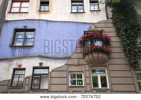 Hundertwasser's House In Vienna