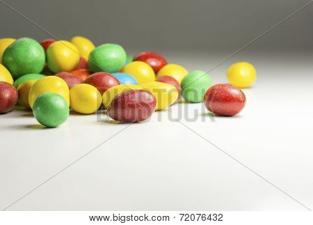 Colorful chocolate coated candy
