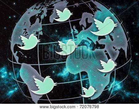 Belgrade - September 09, 2014 Social Media Website Twitter Logo On Computer Screen Close Up
