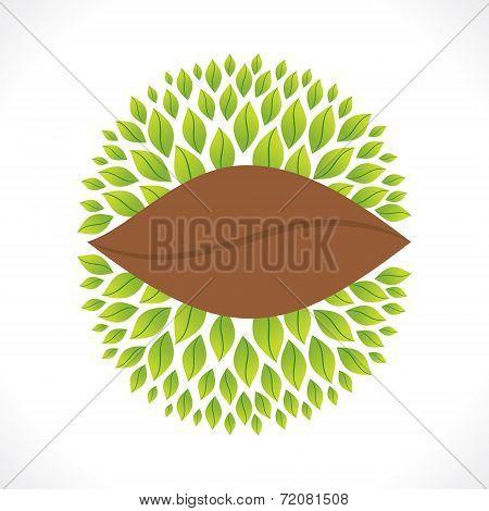 creative leaf banner design concept vector