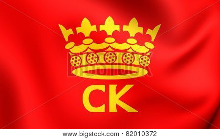 Flag Of Kielce, Poland.