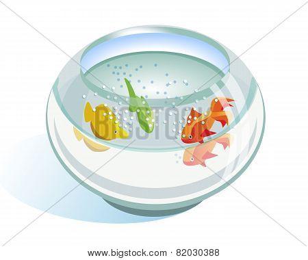 Aquarium Bowl With Fish