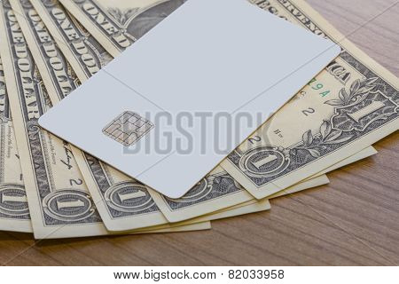 Credit Or Debit Card On Dollar Notes