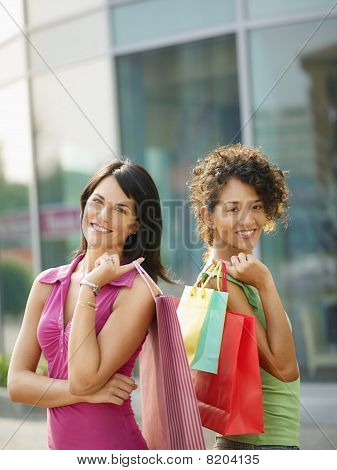 Friends With Shopping Bags
