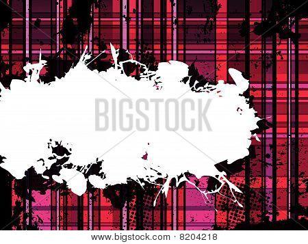 Checkered Pink Grunge Background. Editable Vector Illustration