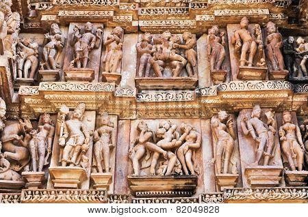Erotic Human Sculptures, Khajuraho, India.